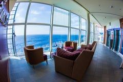 Het binnenland van het cruiseschip stock fotografie