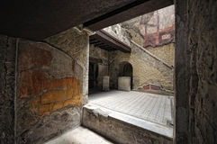 Het binnenland van het Herculaneumhuis Stock Afbeelding