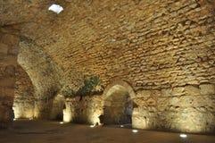Het Binnenland van het Kasteel van Ajloun stock fotografie
