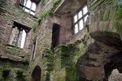 Het Binnenland van het Kasteel van Ludlow Royalty-vrije Stock Foto