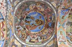 Het binnenland van het klooster - schilderijen Royalty-vrije Stock Afbeelding
