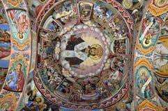 Het binnenland van het klooster - schilderijen Stock Afbeelding