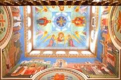 Het binnenland van het klooster van de Patriarch in Yekaterinburg Stock Afbeelding