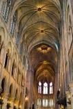 Het binnenland van het Notre Dame de Paris. Royalty-vrije Stock Fotografie