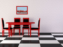Het binnenland van het ontwerp van elegantie uitstekende eetkamer Royalty-vrije Stock Fotografie