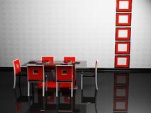 Het binnenland van het ontwerp van elegantieeetkamer Stock Afbeeldingen
