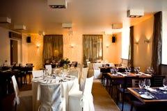 Het binnenland van het restaurant Stock Fotografie