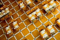 Het Binnenland van het restaurant Stock Foto
