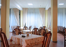 Het binnenland van het restaurant royalty-vrije stock afbeeldingen