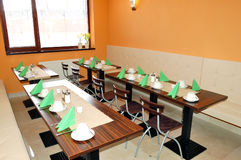Het binnenland van het restaurant bij populair hotel Royalty-vrije Stock Afbeelding
