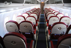 Het binnenland van het vliegtuig Stock Foto's