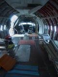 Het Binnenland van het Vliegtuig zonder Zetels Stock Afbeeldingen