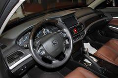 Het binnenland van Honda nieuwe Crosstour 2 4L luxeversie Stock Foto