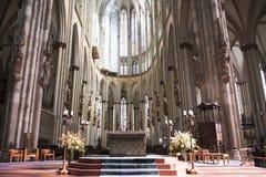 Het Binnenland van kathedraalkeulen Royalty-vrije Stock Foto