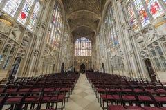 Het binnenland van kerk van de Universiteit van de Koning Royalty-vrije Stock Afbeeldingen