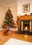 Het binnenland van Kerstmis Stock Afbeeldingen