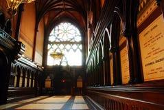 Het binnenland van Memorial Hall bij de Universiteit van Harvard stock foto's