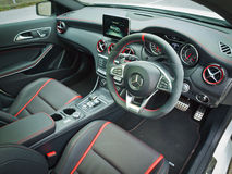Het Binnenland van Mercedes-Benz A45 AMG 2016 Stock Foto