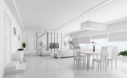 3d binnenland van moderne flat royalty-vrije illustratie