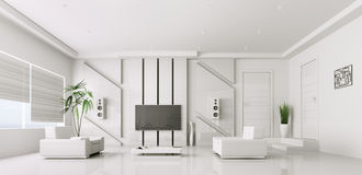 3d binnenland van moderne woonkamer royalty-vrije illustratie