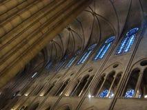 Het binnenland van Notre Dame stock fotografie