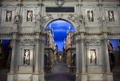 Het binnenland van Olimpico van Teatro in Vicenza Stock Fotografie