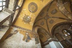 Het binnenland van Sophia van Hagia, Istanboel, Turkije stock fotografie