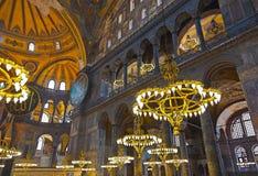 Het binnenland van Sophia van Hagia in Istanboel Turkije Stock Afbeelding