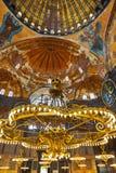Het binnenland van Sophia van Hagia in Istanboel Turkije Stock Afbeeldingen