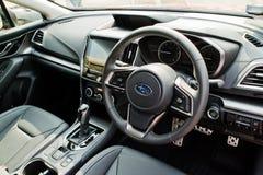 Het Binnenland van Subaru Impreza 2017 Stock Fotografie