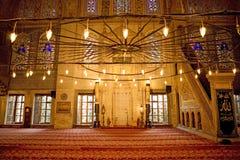 Het binnenland van Sultanahmet Royalty-vrije Stock Foto