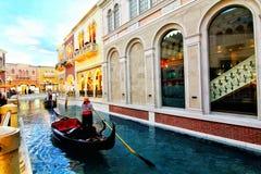 Het binnenland van het Venetiaanse Hotel en het Casino in Las Vegas stock afbeelding