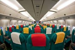 Het binnenland van vliegtuigen Stock Afbeelding