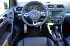 Het binnenland van Volkswagen Stock Foto's