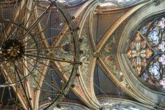 Het binnenland van Votivkirche Stock Foto's