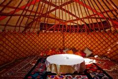 Het Binnenland van Yurt royalty-vrije stock afbeelding