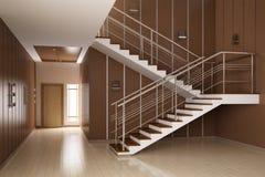 Het binnenland van zaal met 3d treden geeft terug vector illustratie