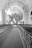 Het binnenland van Zweedse kerk. royalty-vrije stock afbeeldingen