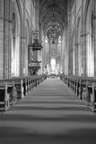 Het binnenland van Zweedse kerk. Royalty-vrije Stock Foto