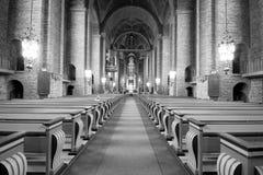 Het binnenland van Zweedse kerk. Royalty-vrije Stock Fotografie