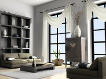 Het binnenlandse 3D teruggeven van het huis Royalty-vrije Stock Afbeeldingen