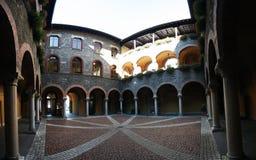 Het binnenlandse hof van Belinzona Stock Afbeelding