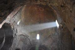 Het binnenlandse Klooster van meningsjvari, Mtskheta, Georgië Stock Foto