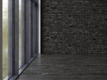 Het binnenlandse lege ruimte 3D teruggeven Royalty-vrije Stock Fotografie