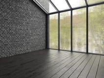 Het binnenlandse lege ruimte 3D teruggeven Royalty-vrije Stock Afbeelding