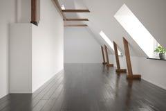Het binnenlandse lege ruimte 3D teruggeven Royalty-vrije Stock Foto