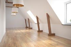 Het binnenlandse lege ruimte 3D teruggeven Stock Foto's