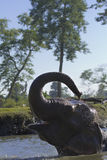 Het binnenlandse olifant baden in Nepal Royalty-vrije Stock Fotografie