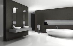 Betegelde badkamers met houten meubilair stock afbeeldingen afbeelding 21464304 - Betegelde badkamer ontwerp ...
