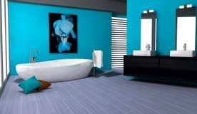 Het Binnenlandse Ontwerp van de badkamers Stock Foto's
